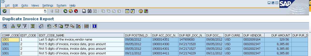 Service Cloud SOP - GLAP - Duplicate Audit Report (SAP)