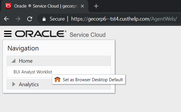 Service Cloud BUI - How to log in to Browser User Interface