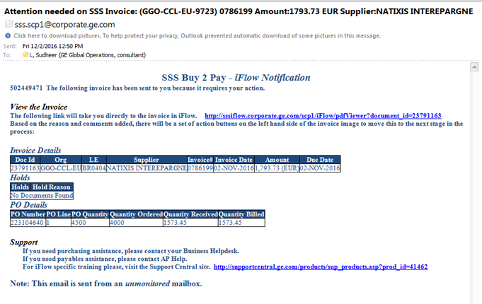 Service Cloud How To Approve Invoices In IFlow - What is an email invoice