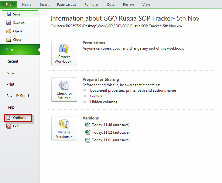Service Cloud Russia What Are The Excel Settings For Creating A
